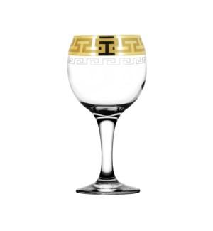 Wine Glass - Greek Pattern - 6pc Set