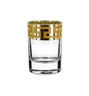 Shot Glass - Greek Pattern - 6pc Set