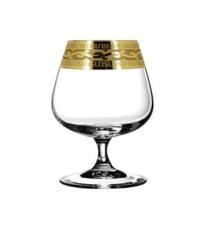Cognac Glass V. Pattern 6pc Set 400ml Gold