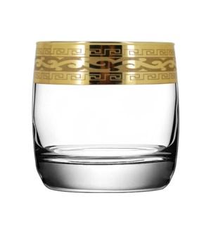 D.O.F Glass V. Pattern 6pc Set 300ml Gold