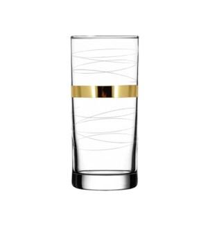 H.B. Glass - Mirage Pattern - 6pc Set