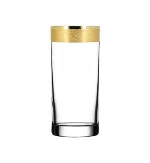 H.B. Glass - Golden Karat Pattern - 6pc Set