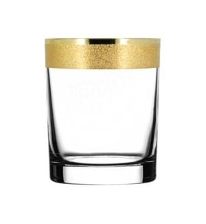 D.O.F. Glass - Golden Karat Pattern - 6pc Set