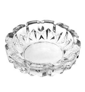 Glass Ashtray Round  12cm