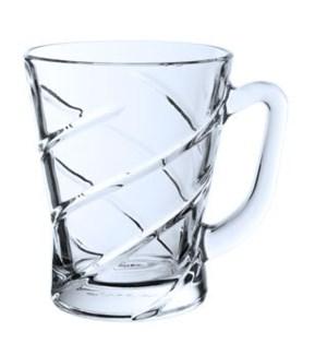 Glass Tea Cup 6pc Set 7oz