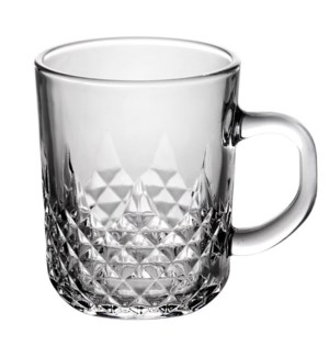 Tea Glass Diamond Cut 6pc Set 7.6oz