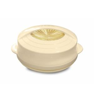 Food Thermos Plastic/SS 2.7QT Beige
