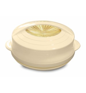 Food Thermos Plastic/SS 3.7QT Beige