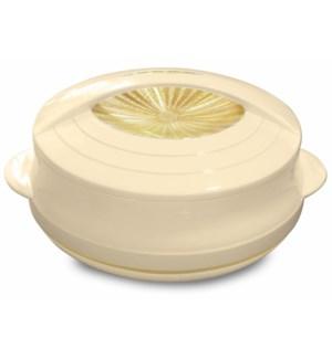 Food Thermos Plastic/SS 6.4QT Beige