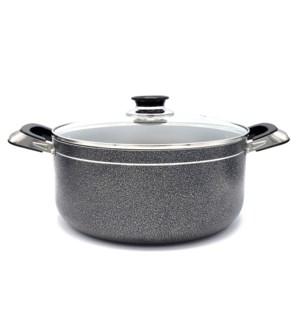 Cooking Pot 18qt - Non-Stick Alum. w/Glass Lid
