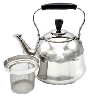 S/S Tea Kettle 2L w/Infuser