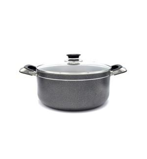 Cooking Pot 3qt - Non-Stick Alum. w/Glass Lid