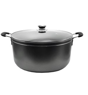 Cooking Pot 35qt - Non-Stick Alum. w/Glass Lid