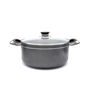 Cooking Pot 6qt - Non-Stick Alum. w/Glass Lid