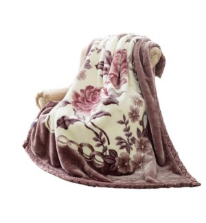 Blanket Queen Size 2Ply 3.5kg Mix Color