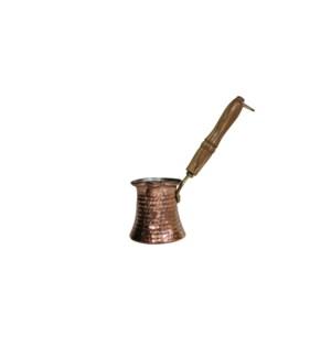 Coffee Warmer Copper w/Wood Handle-150ml