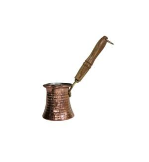 Coffee Warmer Copper w/Wood Handle-350ml