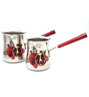 Coffee Warmer 2pc Set Pomegranate   550/720ml 18/10 S/S 1mm Thickness