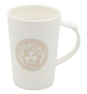 1pc Bon China Mug w/Color Box-Medusa w/Greek Rope Gld-13oz
