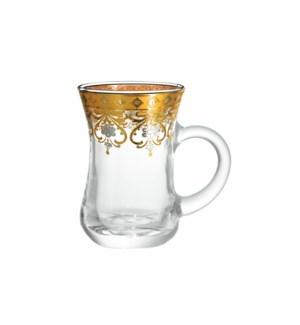 6pc Tea Glass Set 5.5oz-Ribbon-Window Box