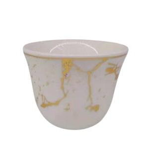 Gawa Cup 12pc Set 80cc White Marble