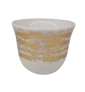 Gawa Cup 12pc Set 80cc White Wavy Lines