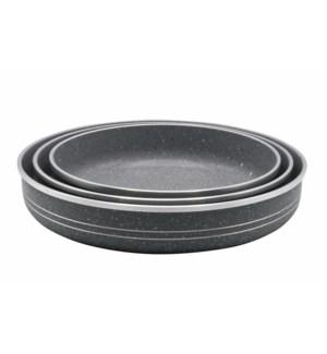 3pc Baking Pan 30-34-38cm Gry