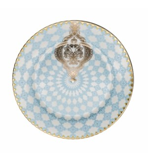 10.5in Dnr Plate Bone China Royal Blu/Gold