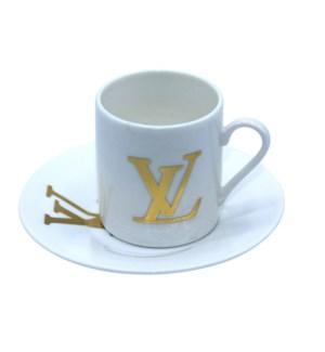 Coffee Cup 12pc Set Bone China 90cc LV