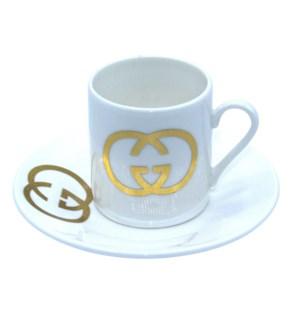 Coffee Cup 12pc Set Bone China 90cc G