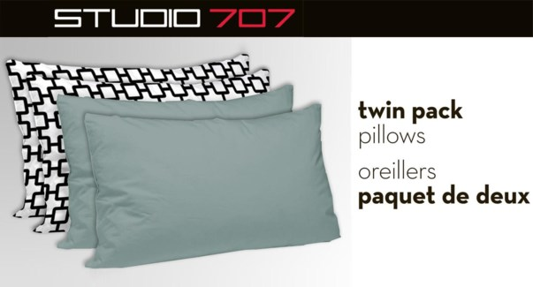 Assorted Twin Pillow Shell Pair 17x23