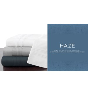 Ensemble de Draps Plisses Haze Assortis Simple 9/B