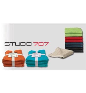 Wash Cloth 12x12 8p Set Ass 24
