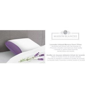 LAVENDER INFUSED MEMORY FOAM PILLOW STD 6B
