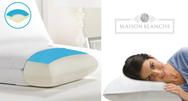 Mem Foam Gel Whi Pillow 6/bx
