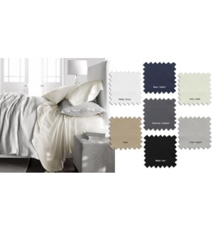 T200 SOLID 100%COTTON SHEET SET CHAR F
