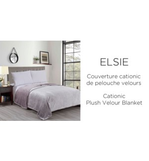 ELSIE CATIONIC PLUSH VELOUR BLANKET PINK F/Q 6/B