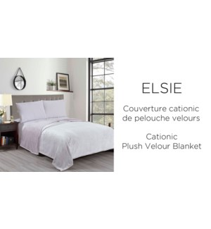 ELSIE CATIONIC PLUSH VELOUR BLANKET blue F/Q 6/B