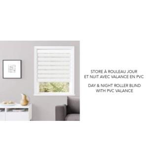 Store a Rouleau jour et nuit PVC Blanc 30*84 6/b