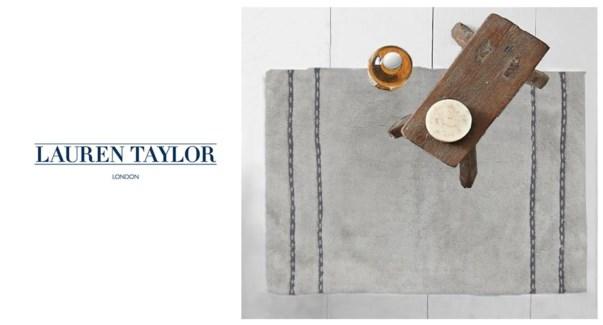 Ctn Bath Mat Grey Stripe 12bx