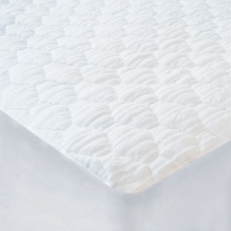 BAMBOO JACQUARD COUVRE-MATELAS BLANC SIMPLE