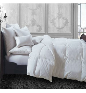 Couette Percale Blanc Synth Hotel Simple