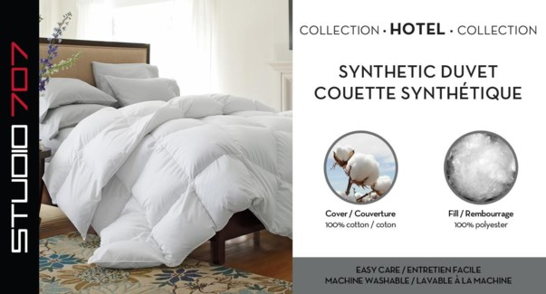 Percale Wht Duvet Synth Dbl