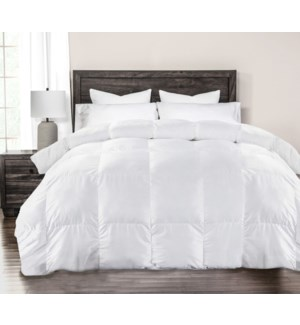 Percale Wht Duvet Synth Qun