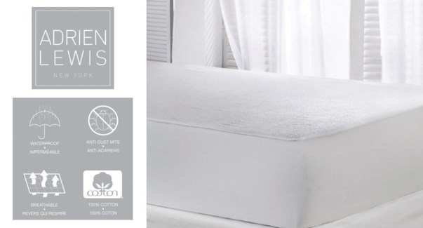Waterproof Cotton Terry Mattress Pad Twin