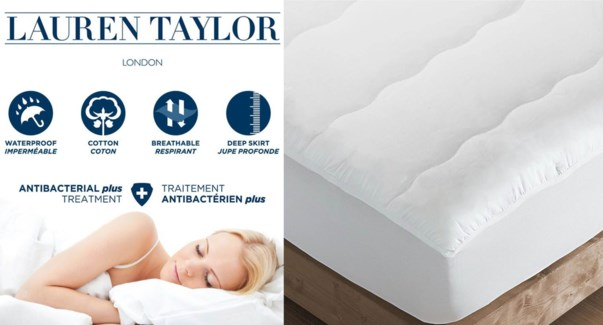COUVRE-MATELAS IMPERMABLE ANTIBACTRIEN DOUBLE 3/4