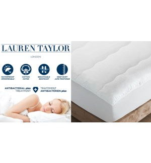 COUVRE-MATELAS IMPERMABLE ANTIBACTRIEN DOUBLE