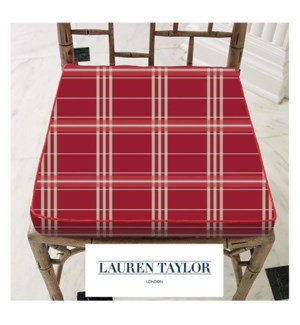 Clyde Plaid Chair Pad Asst 16b