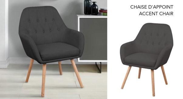 Accent Chair in Beech Wood Legs Grey DK  #k12-21