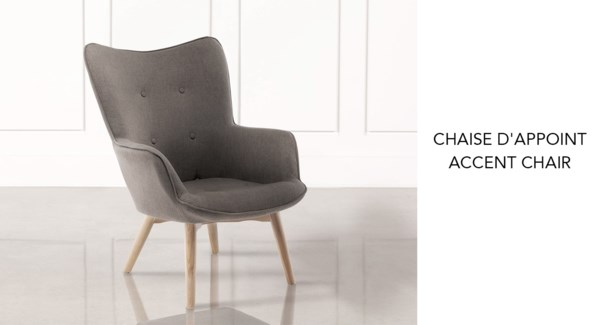 Accent Chair in Beech Wood Legs taupe #k12-19
